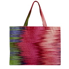 Rectangle Abstract Background In Pink Hues Zipper Mini Tote Bag by Simbadda