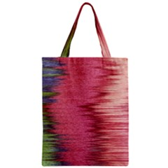 Rectangle Abstract Background In Pink Hues Zipper Classic Tote Bag by Simbadda