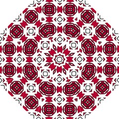 Seamless Abstract Pattern With Red Elements Background Straight Umbrellas by Simbadda