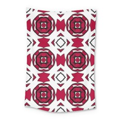 Seamless Abstract Pattern With Red Elements Background Small Tapestry by Simbadda