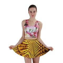 Patterned Wallpapers Mini Skirt