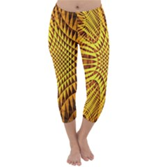 Patterned Wallpapers Capri Winter Leggings