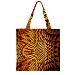 Patterned Wallpapers Zipper Grocery Tote Bag by Simbadda
