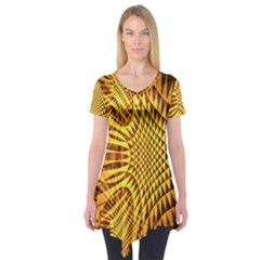 Patterned Wallpapers Short Sleeve Tunic