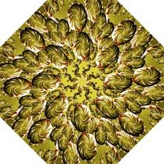 Melting Gold Drops Brighten Version Abstract Pattern Revised Edition Golf Umbrellas by Simbadda