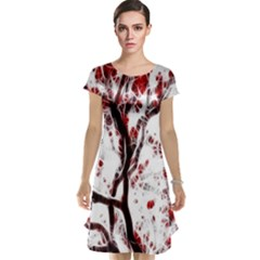 Tree Art Artistic Abstract Background Cap Sleeve Nightdress