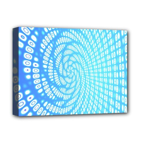 Abstract Pattern Neon Glow Background Deluxe Canvas 16  X 12   by Simbadda