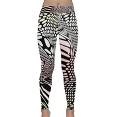 Abstract Fauna Pattern When Zebra And Giraffe Melt Together Classic Yoga Leggings by Simbadda