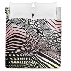 Abstract Fauna Pattern When Zebra And Giraffe Melt Together Duvet Cover Double Side (queen Size) by Simbadda