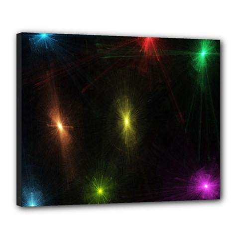 Star Lights Abstract Colourful Star Light Background Canvas 20  X 16  by Simbadda