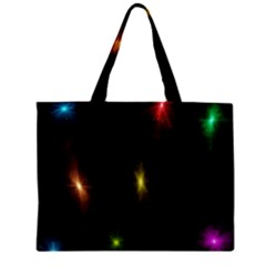 Star Lights Abstract Colourful Star Light Background Zipper Mini Tote Bag by Simbadda