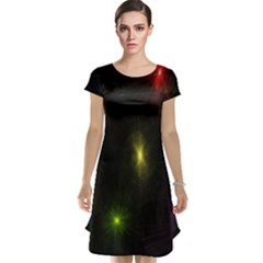 Star Lights Abstract Colourful Star Light Background Cap Sleeve Nightdress by Simbadda
