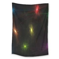 Star Lights Abstract Colourful Star Light Background Large Tapestry by Simbadda