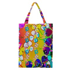 Abstract Flowers Design Classic Tote Bag by Simbadda