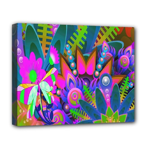 Wild Abstract Design Deluxe Canvas 20  X 16   by Simbadda