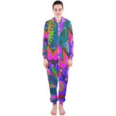 Wild Abstract Design Hooded Jumpsuit (ladies)
