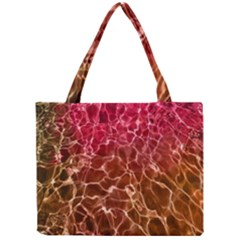 Background Water Abstract Red Wallpaper Mini Tote Bag
