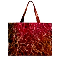 Background Water Abstract Red Wallpaper Zipper Mini Tote Bag by Simbadda
