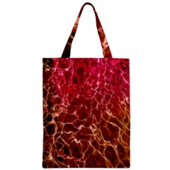 Background Water Abstract Red Wallpaper Zipper Classic Tote Bag by Simbadda