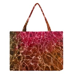 Background Water Abstract Red Wallpaper Medium Tote Bag by Simbadda