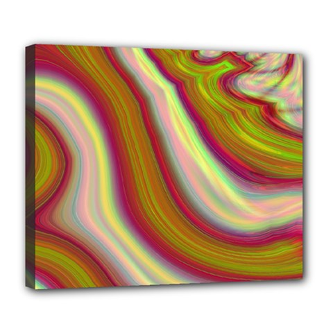 Artificial Colorful Lava Background Deluxe Canvas 24  X 20   by Simbadda
