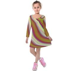 Artificial Colorful Lava Background Kids  Long Sleeve Velvet Dress