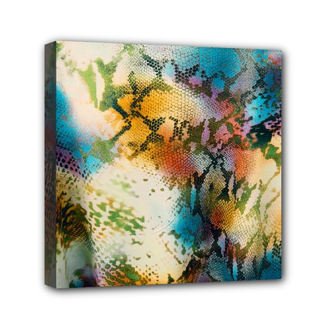 Abstract Color Splash Background Colorful Wallpaper Mini Canvas 6  X 6  by Simbadda