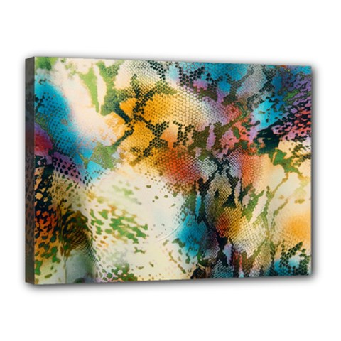 Abstract Color Splash Background Colorful Wallpaper Canvas 16  X 12  by Simbadda