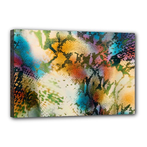 Abstract Color Splash Background Colorful Wallpaper Canvas 18  X 12  by Simbadda
