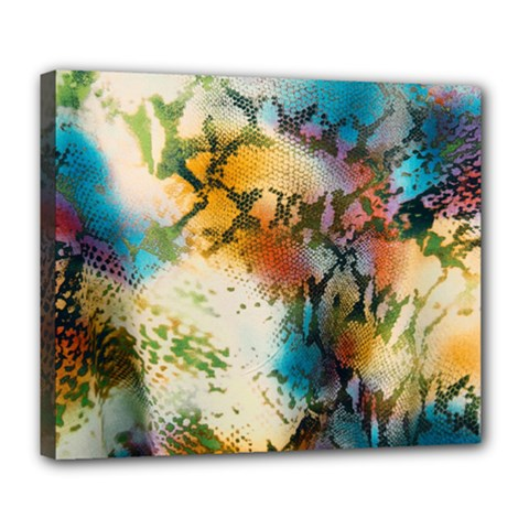 Abstract Color Splash Background Colorful Wallpaper Deluxe Canvas 24  X 20   by Simbadda
