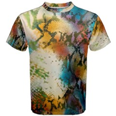 Abstract Color Splash Background Colorful Wallpaper Men s Cotton Tee by Simbadda
