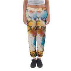 Abstract Color Splash Background Colorful Wallpaper Women s Jogger Sweatpants by Simbadda