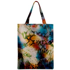 Abstract Color Splash Background Colorful Wallpaper Zipper Classic Tote Bag by Simbadda