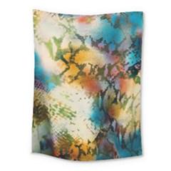 Abstract Color Splash Background Colorful Wallpaper Medium Tapestry by Simbadda