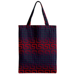 Abstract Tiling Pattern Background Zipper Classic Tote Bag by Simbadda