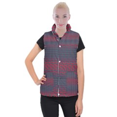 Abstract Tiling Pattern Background Women s Button Up Puffer Vest by Simbadda