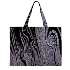 Abstract Swirling Pattern Background Wallpaper Zipper Mini Tote Bag by Simbadda