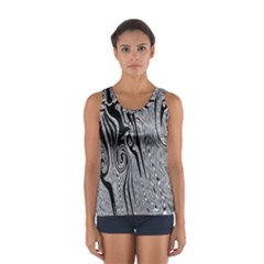 Abstract Swirling Pattern Background Wallpaper Women s Sport Tank Top