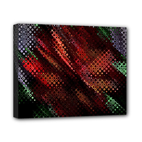 Abstract Green And Red Background Canvas 10  X 8  by Simbadda