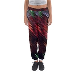Abstract Green And Red Background Women s Jogger Sweatpants by Simbadda