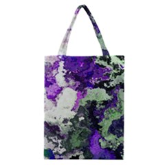 Background Abstract With Green And Purple Hues Classic Tote Bag by Simbadda