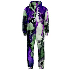 Background Abstract With Green And Purple Hues Hooded Jumpsuit (men)