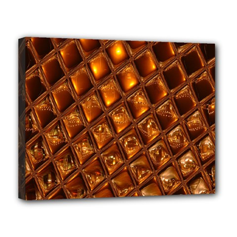 Caramel Honeycomb An Abstract Image Canvas 14  X 11  by Simbadda