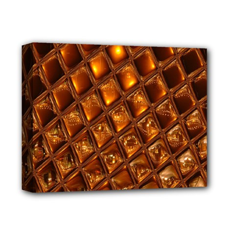 Caramel Honeycomb An Abstract Image Deluxe Canvas 14  X 11  by Simbadda