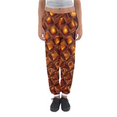 Caramel Honeycomb An Abstract Image Women s Jogger Sweatpants by Simbadda