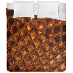 Caramel Honeycomb An Abstract Image Duvet Cover Double Side (california King Size) by Simbadda