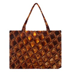 Caramel Honeycomb An Abstract Image Medium Tote Bag by Simbadda