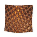 Caramel Honeycomb An Abstract Image Square Tapestry (Small) View1