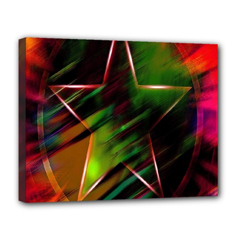 Colorful Background Star Canvas 14  X 11  by Simbadda
