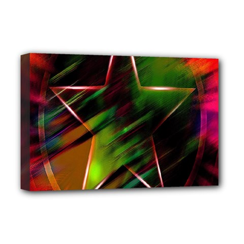 Colorful Background Star Deluxe Canvas 18  X 12   by Simbadda